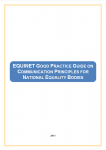 Good Practice Guide on Communication Principles for National Equality Bodies (2011)