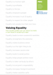 Valuing Equality (2012)