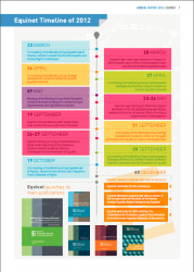 Equinet Timeline 2012 (Click to enlarge picture)