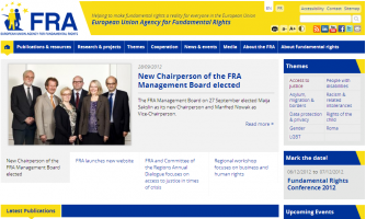 New FRA website (Click to enlarge picture)