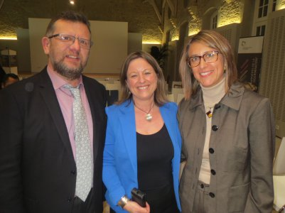 Anne GASPARD (middle) with Mario HUBERTY and Nathalie MORGENTHALER of CET