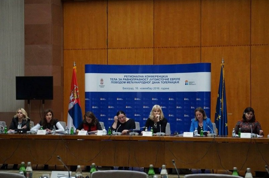 Anne Gaspard participates at conference (second from right).  (Click to enlarge picture)