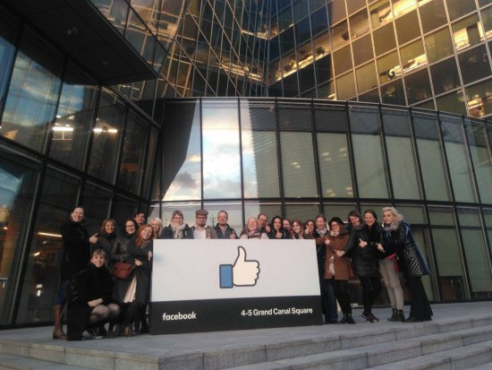 Participants outside the Facebook offices in Dublin